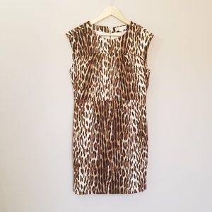 Michael Kors Animal Print Sheath Dress Size 10